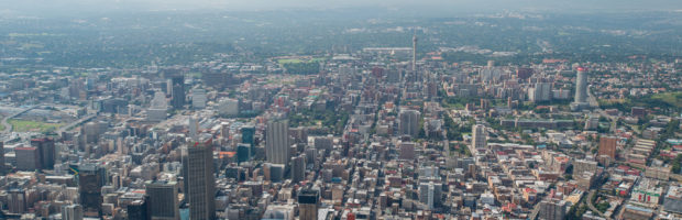 SOUTH AFRICA- Aerial view of Johannesburg