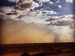 Dust Storm - Airborne dust particles -Terrifying Saharan Dust Storm